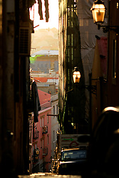 PORTUGAL LISBON 8OCT06 - Sunlight in the narrow lanes of the Bairro Alto, Lisbon.. . jre/Photo by Jiri Rezac. . © Jiri Rezac 2006. . Contact: +44 (0) 7050 110 417. Mobile:  +44 (0) 7801 337 683. Office:  +44 (0) 20 8968 9635. . Email:   jiri@jirirezac.com. Web:    www.jirirezac.com. . © All images Jiri Rezac 2006 - All rights reserved.