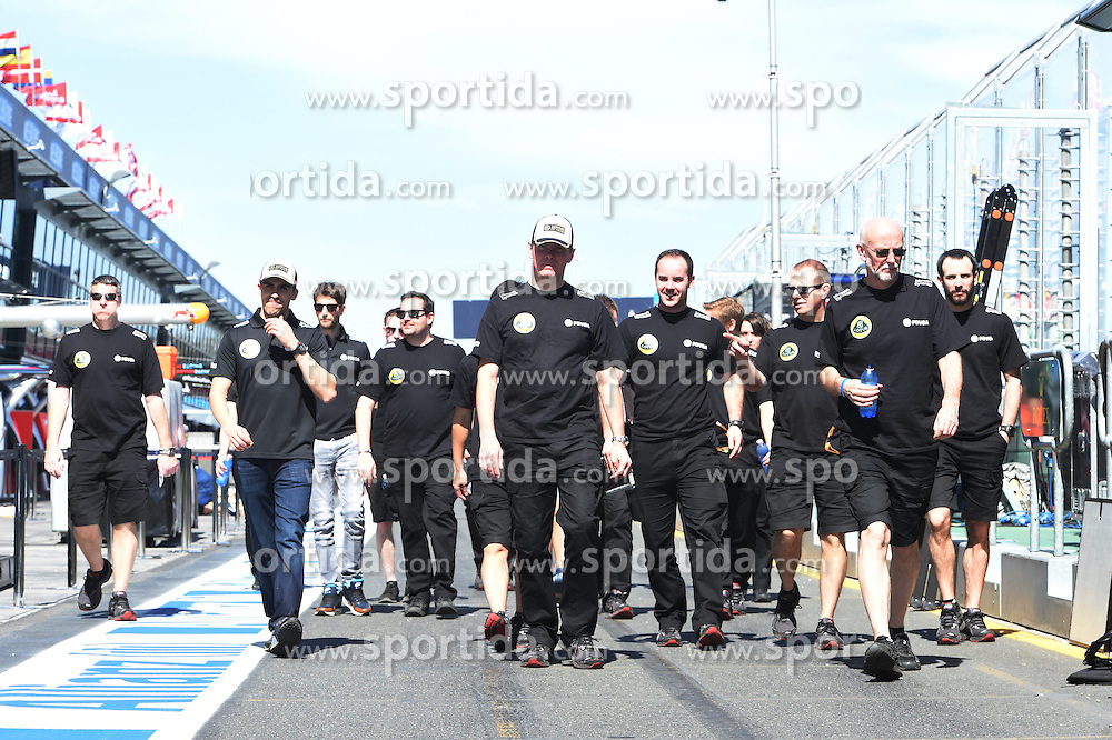 11.03.2015, Albert Park Circuit, Melbourne, AUS, FIA, Formel 1, Grand Prix von Australien, Vorberichte, im Bild Pastor Maldonado (VEN) Lotus walks the track // during Preparations for the FIA Formula One Grand Prix of Australia at the Albert Park Circuit in Melbourne, Australia on 2015/03/11. EXPA Pictures &copy; 2015, PhotoCredit: EXPA/ Sutton Images/ Mark Images<br /> <br /> *****ATTENTION - for AUT, SLO, CRO, SRB, BIH, MAZ only*****
