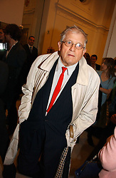 Artist DAVID HOCKNEY at a reception o celebrate the opening of 'USA Today' - an exhibition of work from The Saatchi Gallery held at The Royal Academy of Arts, Burlington Gardens, London on 5th September 2006.<br /><br />NON EXCLUSIVE - WORLD RIGHTS