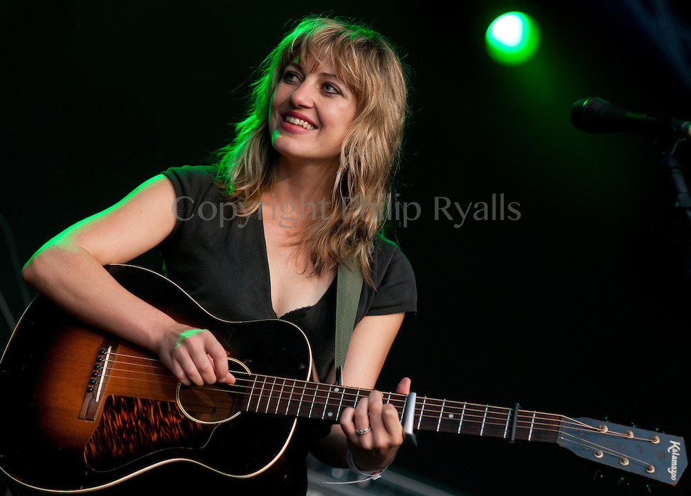 CAMBRIDGE, UK - JULY 29: Anaïs Mitchell performs on stage at The Cambridge Folk Festival on July 29th, 2012 in Cambridge, United Kingdom. (Photo by Philip Ryalls/Redferns)**Anaïs Mitchell