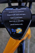 Tugo Bike Share bike awaiting its volunteer rider at the Ride-Out.