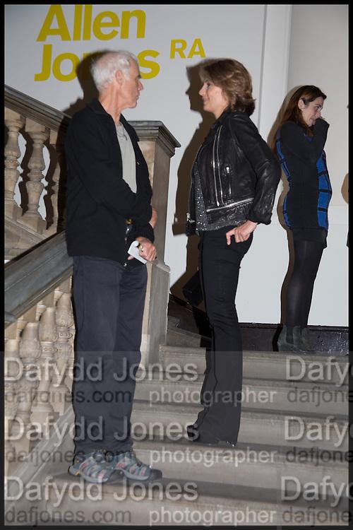 RICHARD LONG; MARIANNE SACHS, Allen Jones private view. Royal Academy,  London. 11 November  2014.
