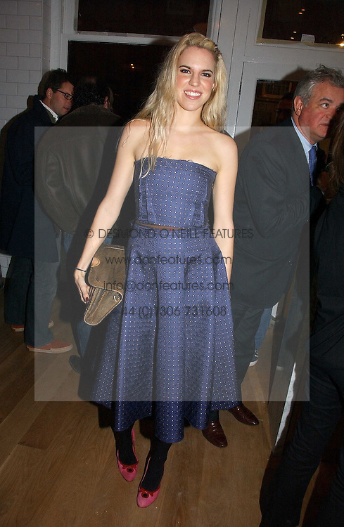 ALEXANDRA AITKEN at the opening party for Tom's Kitchen - the restaurant of Tom Aikens at 27 Cale Street, London SW3 on 1st November 2006.<br />