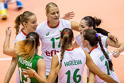 22-08-2017 NED: World Qualifications Slovenia - Bulgaria, Rotterdam<br /> Bulgaria win 3-1 against Slovenia / Strashimira Simeonova #17 of Bulgaria