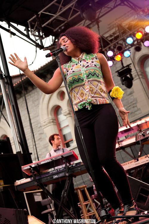 Laura Izibor performs during the opening day of Artscape on Friday, July 20, 2012 in Baltimore, MD.
