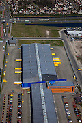 Nederland, Zuid-Holland, Den Haag, 18-03-2009; Ypenburg, distributiecentrum  DHL Express, Laan van Waalhaven, strategisch gelegen vlak bij Den Haag en tussen autosnelwegen A12. A13 en en A4. Very strategically located distribution center.near the access of the main motorways of the Netherlands.  Swart collectie, luchtfoto (toeslag); Swart Collection, aerial photo (additional fee required); .foto Siebe Swart / photo Siebe Swart
