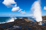 Spouting Horn, Po'ipu area, Island of Kauai, Hawaii USA
