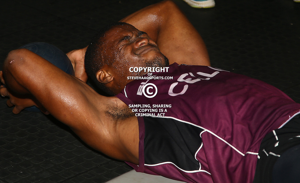 DURBAN, SOUTH AFRICA - JANUARY 16: S'bura Sithole during the Cell C Sharks boxing session at Domination on January 16, 2017 in Durban, South Africa. (Photo by Steve Haag/Gallo Images)