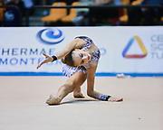Martina Carminati  atleta della Società Moderna Legnano durante la seconda prova del Campionato Italiano di Ginnastica Ritmica.<br /> La gara si è svolta a Desio il 31 ottobre 2015.