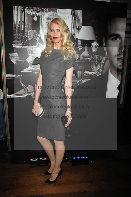CLAUDIA SCHIFFER at a party to launch the Dom Perignon OEotheque 1995 held at The Landau, Portland Place, London W1 on 26th February 2008.<br /><br />NON EXCLUSIVE - WORLD RIGHTS