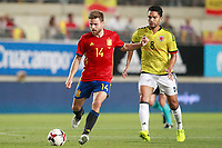 Spain's Asier Illarramendi (l) and Colombia's Abel Aguilar during international friendly match. June 7,2017.(ALTERPHOTOS/Acero)