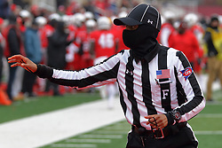 NORMAL, IL - November 17: Field Judge: Nikki Randolph during a college football game between the ISU (Illinois State University) Redbirds and the Youngstown State Penguins on November 17 2018 at Hancock Stadium in Normal, IL. (Photo by Alan Look)