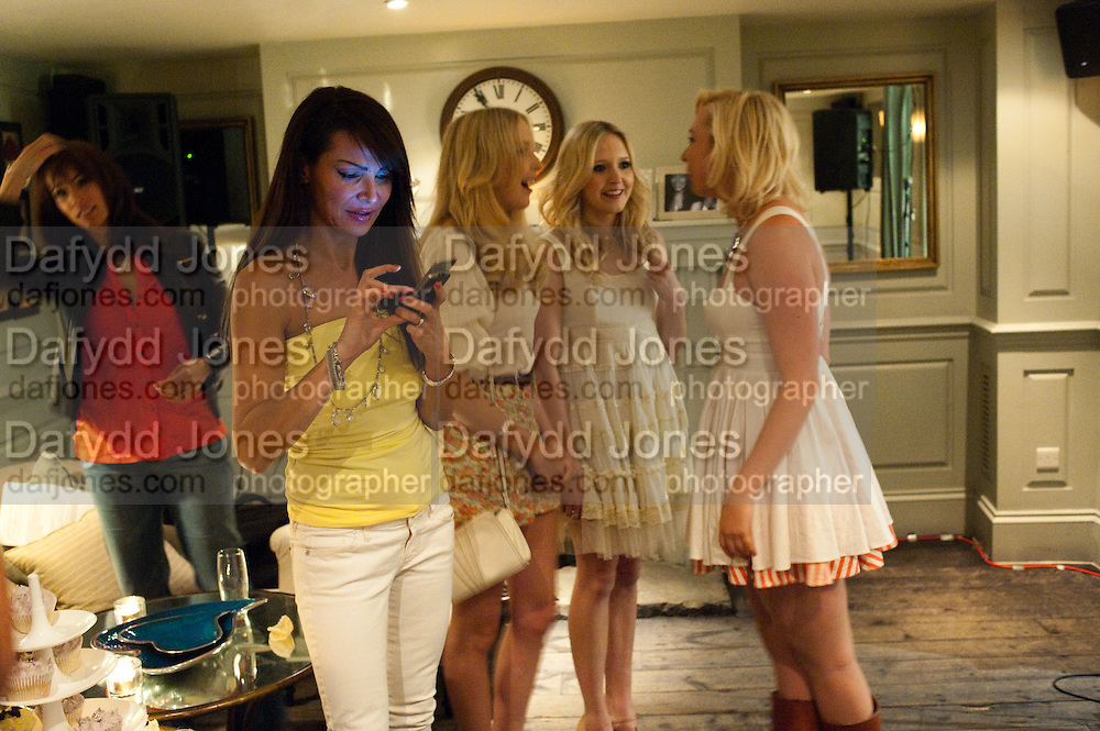 LIZZIE CUNDY; AMANDA MARCHANT; SAM MARCHANT; VICTORIA HART, Lost and Found Jewellery Range designed by Nick Ede.  - launch party Soho House, 19-21 Old Compton Street, London W1, 26 MAY 2009.