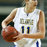 Delaware Junior Forward (#11) Elena Delle Donne grabs the rebound during VCU delaware game at the The Bob Carpenter Center In Newark Delaware Thursday Night.