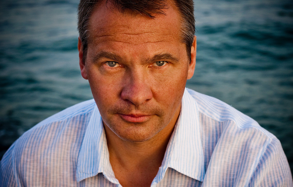 Russian businessman Alex Konanykhin by the sea outside Barcelona, Spain..(b. Alexandre Pavlovich Konanykhine)..Photographer: Chris Maluszynski /MOMENT