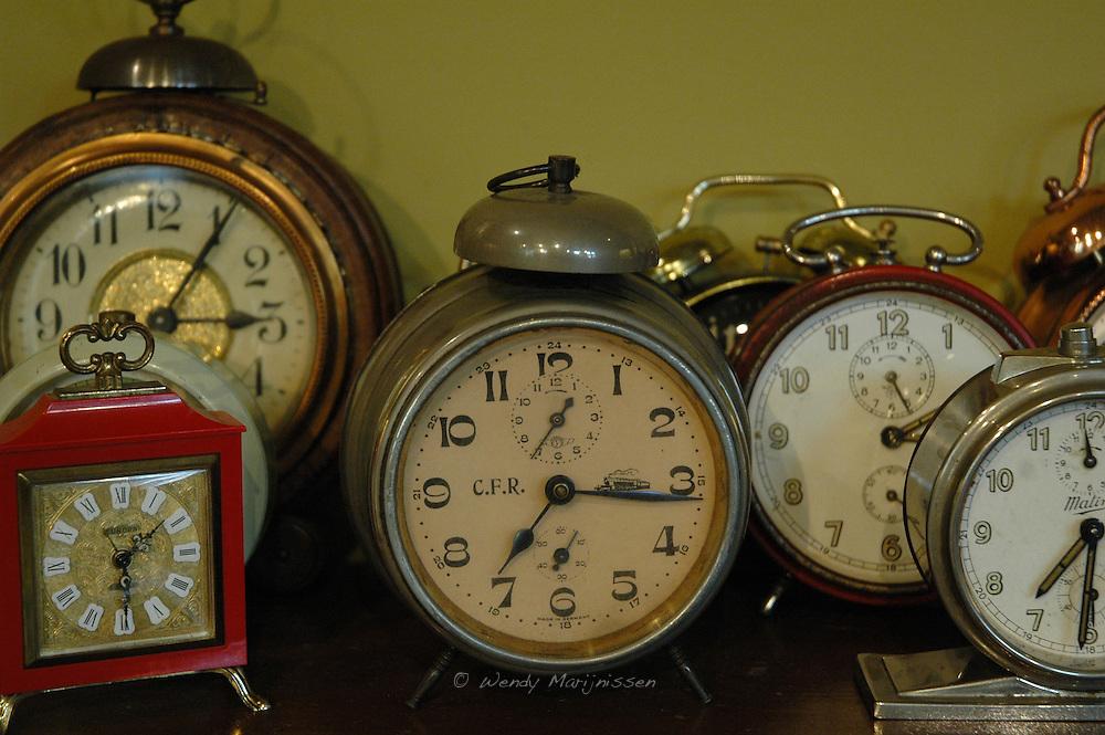 Old clocks in the museum 'Huis van Alijn'. Ghent, Belgium 2006