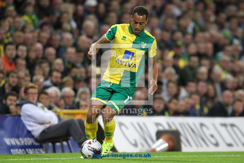 Elliott Bennett of Norwich in action during the Capital One Cup match at Carrow Road, Norwich<br /> Picture by Paul Chesterton/Focus Images Ltd +44 7904 640267<br /> 23/09/2015