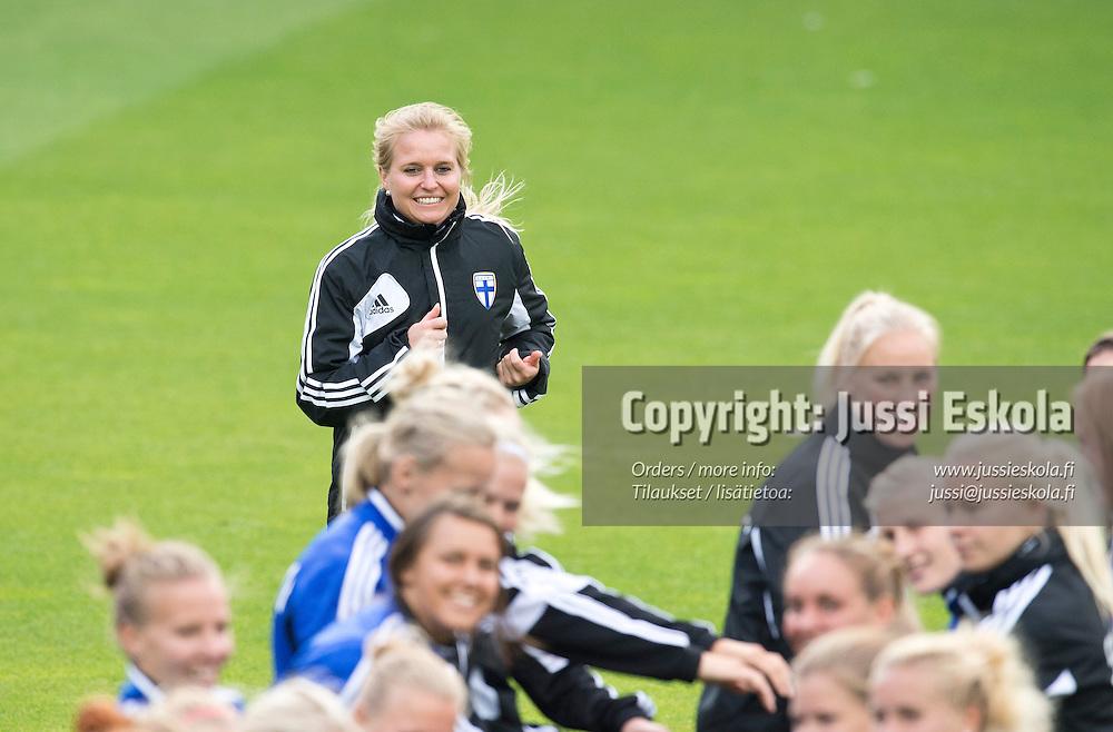 Katri Nokso-Koivisto. Naisten maajoukkue, harjoitukset. Gamla Ullevi, Göteborg, Ruotsi 15.7.2013. Photo: Jussi Eskola