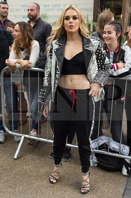 © Licensed to London News Pictures. 18/09/2016.  TALLIA STORM attends the TOP SHOP UNIQUE  Spring/Summer 2017 show. Models, buyers, celebrities and the stylish descend upon London Fashion Week for the Spring/Summer 2017 clothes collection shows. London, UK. Photo credit: Ray Tang/LNP<br /> <br /> <br /> London, UK. Photo credit: Ray Tang/LNP