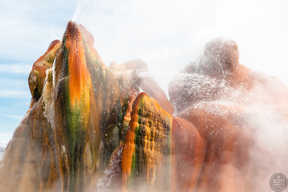 """Fly Geyser 2"" - Photograph of the famous man made Fly Geyser in Nevada."