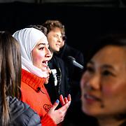 Maya Ghazal Arrives at 2020 WE Day UK at Wembley Arena, London, Uk 4 March 2020.