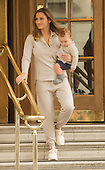 EXCLUSIVE - Sam faiers boyfriend and baby leave the Ritz