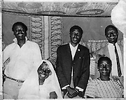 A family gathers after a traditonal Nubian wedding.  (1965)