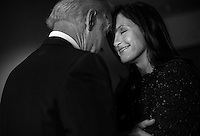 ROCKVILLE, MD - MARCH 13:  Vice President Joe Biden greets Mariska Hargitay, actress from Law & Order and advocate, in his characteristic forehead touching style, back stage before he speaks to an audience of lawmakers, women against violence advocates, and constituents concerning reducing  domestic violence homicides, in Rockville, Maryland, on Wednesday, March 13, 2013. (Photo by Melina Mara/The Washington Post)