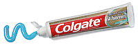 colgate toothpaste with blue toothpaste gel