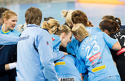 Players of Slovenia during handball match between Women National Teams of Slovenia and Czech Republic of 4th Round of EURO 2012 Qualifications, on March 25, 2012, in Arena Stozice, Ljubljana, Slovenia. (Photo by Vid Ponikvar / Sportida.com)