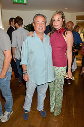 HAMISH McALPINE and CAROLE SILLER at a party hosted by Nancy Dell'Olio to celebrate the launch of Limonbello held at The Club at The Ivy, 9 West Street, London on 20th July 2016.
