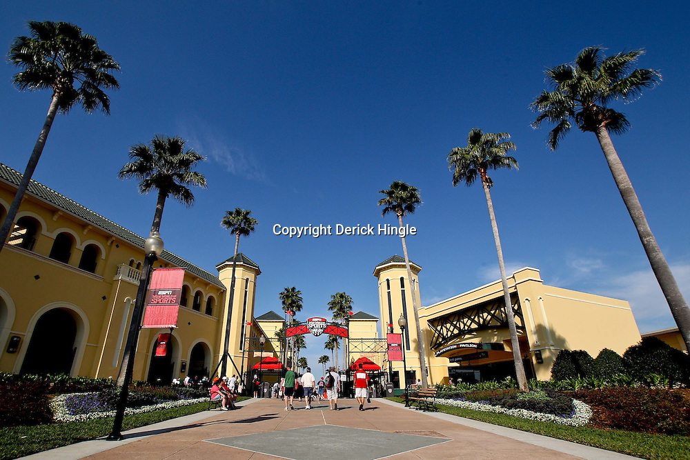 March 16, 2011; Lake Buena Vista, FL, USA; A general view before a spring training exhibition game between the Boston Red Sox and the Atlanta Braves at the Disney Wide World of Sports complex. Mandatory Credit: Derick E. Hingle-US PRESSWIRE