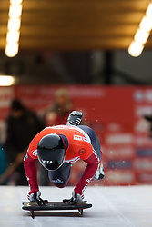 03.12.2011, Eiskanal, Igls, AUT, Viessmann FIBT Bob und Skeleton Weltcup, Skeleton Herren, 1. Durchgang, im Bild Michael Douglas (CAN) // Michael Douglas  of Canada during first run men's Skeleton at FIBT Viessmann Bobsleigh and Skeleton World Cup at Olympic ice canal, Innsbruck Igls, Austria on 2011/12/03. EXPA Pictures © 2011, PhotoCredit: EXPA/ Johann Groder