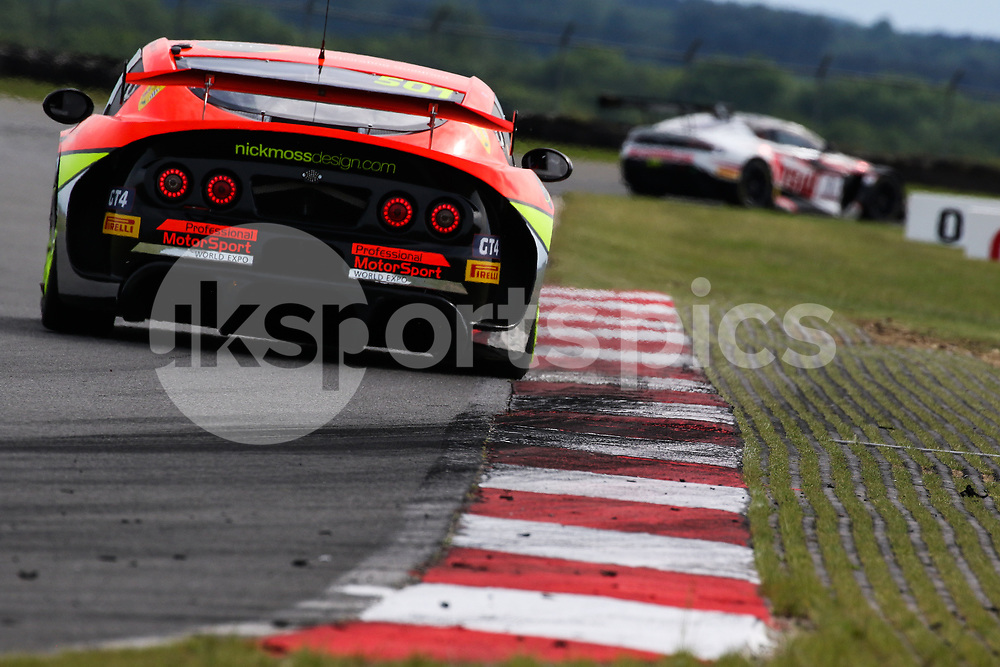PMW Expo Racing / Optimum Motorsport Ginetta G55 GT4 with drivers Graham Johnson & Mike Robinson during the British GT And BRDC British F3 Championships at the Snetterton Circuit, Norwich, England on 28 May 2017. Photo by Jurek Biegus.