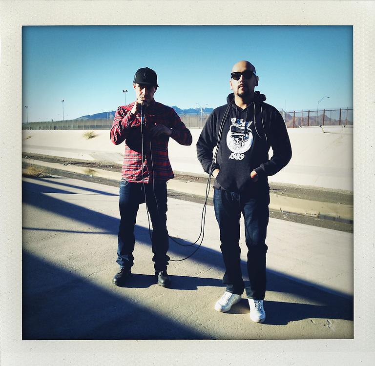 Photo shoot with Carlos Juan Avila Felix  alias MC Cone and Alejandro Neave alias  MC Curso on the border with El Paso in Ciudad Juarez, Mexico...http://www.facebook.com/LaFronteraArtistsAlongTheUsMexicanBorder