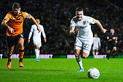 Leeds United midfielder Jack Harrison (22) during the EFL Sky Bet Championship match between Leeds United and Hull City at Elland Road, Leeds, England on 10 December 2019.