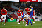 Middlesbrough defender George Friend (3) shoots wide during the EFL Sky Bet Championship match between Middlesbrough and Ipswich Town at the Riverside Stadium, Middlesbrough, England on 29 December 2018.