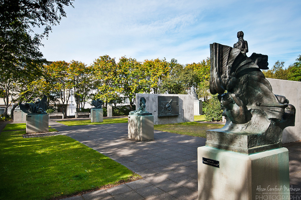 The Einar Jónsson Museum has a beautiful sculpture garden that is free to explore in Reykjavik, Iceland.