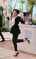 Actress Juliette Binoche at the photo call for the film Sils Maria at the 67th Cannes Film Festival, Friday 23rd May 2014, Cannes, France.