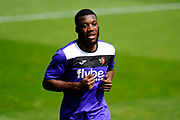 Troy Archibald-Henville (5) of Exeter City warming up before the EFL Sky Bet League 2 match between Exeter City and Lincoln City at St James' Park, Exeter, England on 19 August 2017. Photo by Graham Hunt.