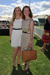 Left to right, KELLY KNATCHBULL and her mother MELISSA KNATCHBULL at the 27th annual Cartier International Polo Day featuring the 100th Coronation Cup between England and Brazil held at Guards Polo Club, Windsor Great Park, Berkshire on 24th July 2011.
