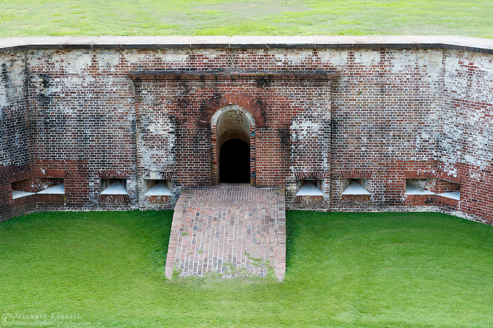 Fort Macon - an American Civil War Fort in Fort Macon State Park on the eastern end of Emerald Isle and Bogue Banks at Beaufort Inlet, North Carolina