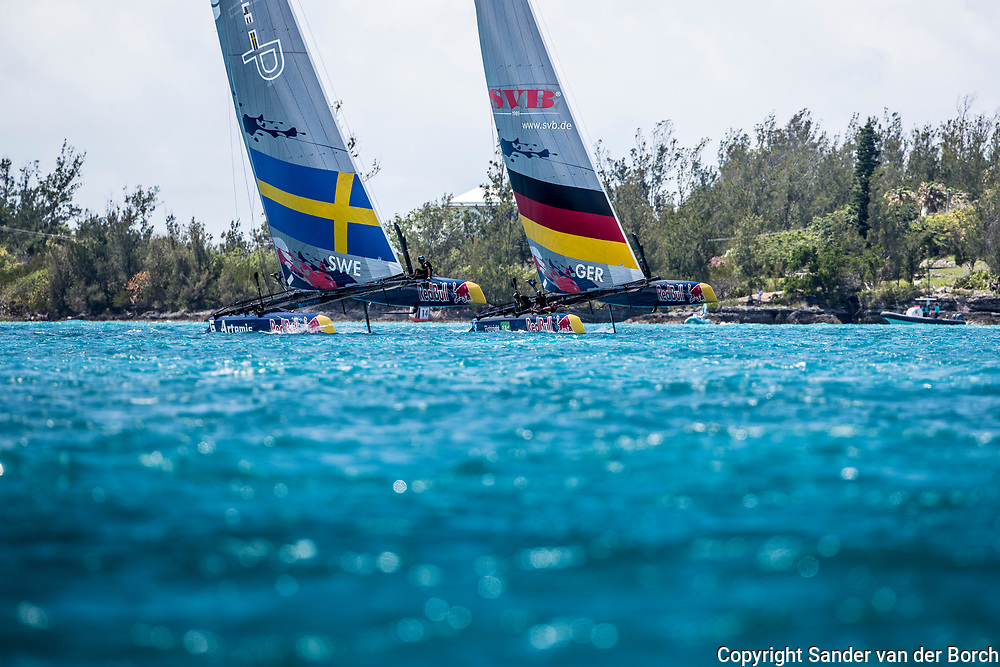 Artemis Youth Racing in the Red Bull America's Cup leading their group after the first day. 15th of June, 2017, Bermuda
