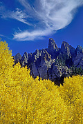 Image of the San Juan Mountains in the fall near Ophir, Colorado, American Southwest