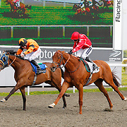 Victorian Number and Hayley Turner winning 3.40 race