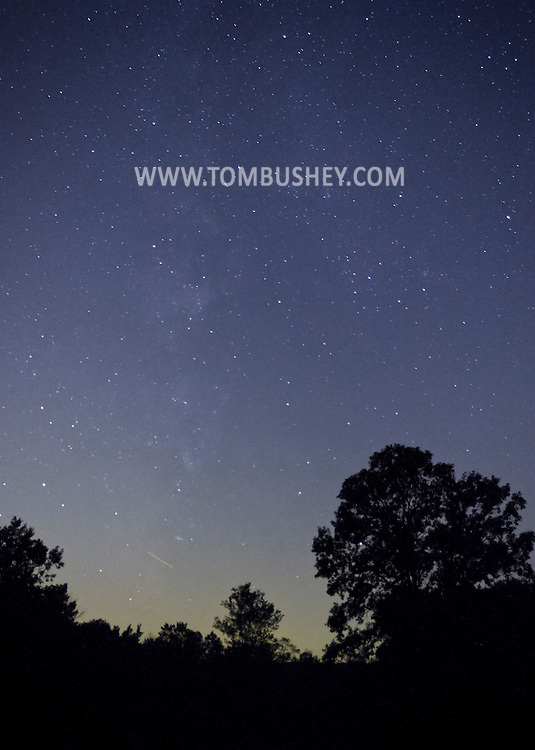Chester, New York - Stars above the trees at Knapp's View in Chester on the night of Sept. 13, 2012.