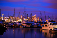 Elliott Bay Marina, Blue Hour