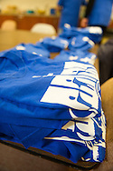 15 Oct. 2016 Forked River USA / Volunteers shirts are prepared and ready just before St Pius X celebrates it's 10th year in their new church with a festival open to all  /  Michael Glenn  / Glenn Images