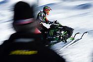 Tucker Hibbert during Ski Slopestyle Practice at the 2016 X Games Aspen in Aspen, CO. ©Brett Wilhelm/ESPN