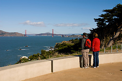 California: San Francisco. Land's End view of the Golden Gate. Photo copyright Lee Foster. Photo #: 25-casanf75717